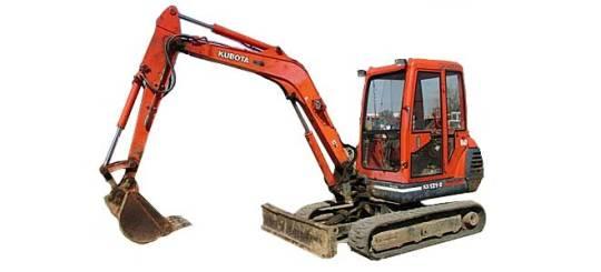 4.5 Tonne Mini Excavator, Kubota 2007 for hire