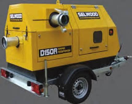 Diesel Self Priming Pump Selwood S150 for hire