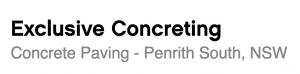 Exclusive Concreting