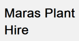 Maras Plant Hire