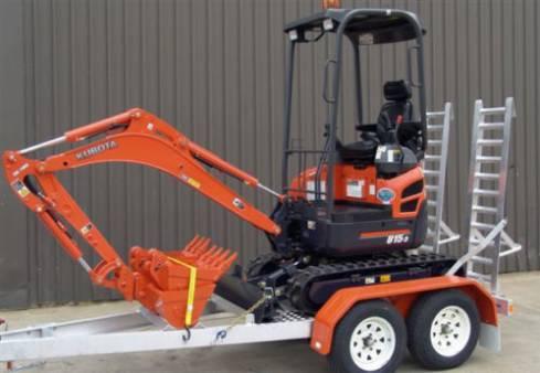 Caterpillar 301.7D 1.7 Tonne Zero Swing Mini Excavator w/ Three Buckets & Trailer