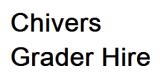 Chivers Grader Hire Pty Ltd