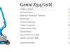 Genie Z34/22N- Knuckle Boom