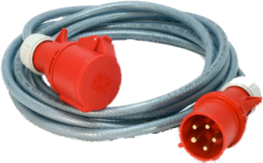 Extension Cord - 415v, 4pin, 20amp, 15m for hire