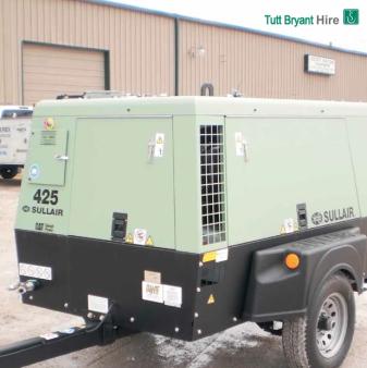 AIR COMPRESSOR Diesel 125 LPS (260 CFM) for hire